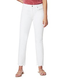 The Lara Mid-Rise Cigarette Ankle Jeans