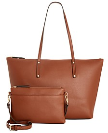 INC Zoiey 2-in-1 Commuter Tote, Created for Macy's
