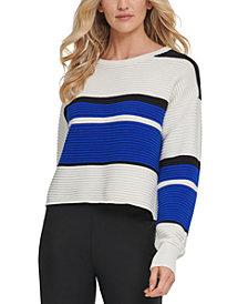 DKNY Ribbed Colorblocked Sweater