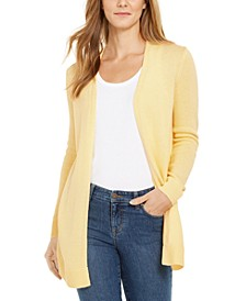 Open-Front Curved-Hem Completer Sweater, Created For Macy's