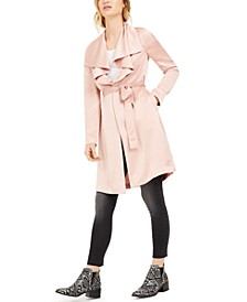 Drape-Front Duster Jacket, Created for Macy's