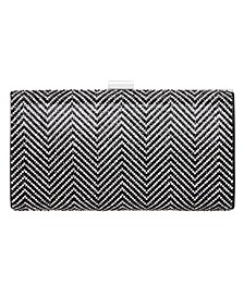 Laken Crystal Herringbone Clutch