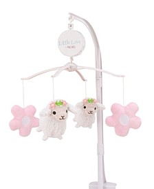 NoJo Farm Chic Little Lambs and Flowers Musical Mobile