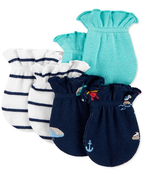 Carter's Baby Boys 3-Pk. Cotton Mittens