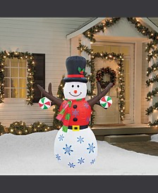 6' Inflatable Tree Hand Snowman