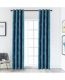 "Crawford Room Darkening Curtain, 95"" L x 52"" W"