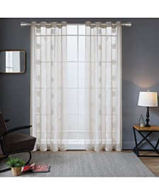 "Harper Embroidery Sheer Curtain, 95"" L x 54"" W"