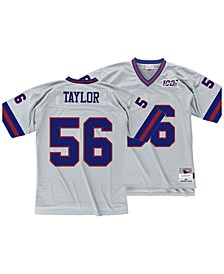 Men's Lawrence Taylor New York Giants 100 Year Platinum Jersey