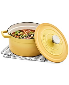 4-Qt. Enameled Cast Iron Round Dutch Oven, Created for Macy's