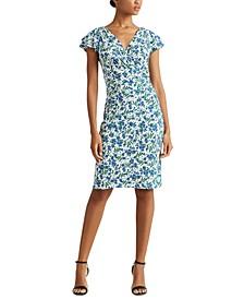 Petite Jersey Flutter-Sleeve Dress