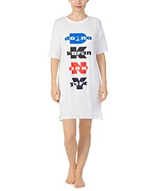 Logo-Print Sleep Shirt Nightgown