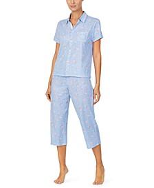 Floral-Print Capri Pajama Set
