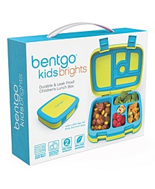 Kids Brights 5-Compartment Bento Lunch Box, Citrus Yellow