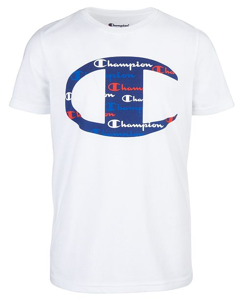 Champion Little Boys C Logo with Script Fill T-Shirt