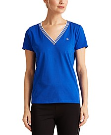 Short-Sleeve V-Neck Top