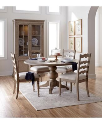 Ellan Round Dining Furniture, 5-Pc. Set (Table & 4 Side Chairs), Created for Macy's
