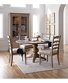 Ellan Round Dining 5-Pc. Set (Table & 4 Side Chairs), Created for Macy's