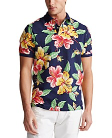 Men's Custom Slim-Fit Floral Mesh Polo