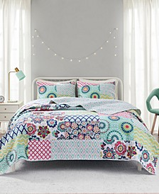 Sunny 3-Piece Full/Queen Reversible Coverlet Set