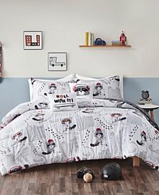Cooper 4-Piece Reversible Twin Comforter Set