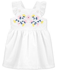 Baby Girls Embroidered Cotton Poplin Dress