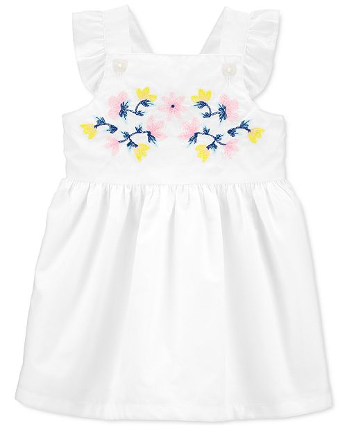 Carter's Baby Girls Embroidered Cotton Poplin Dress