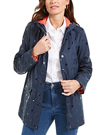 Embossed-Dot Hooded Jacket, Created for Macy's