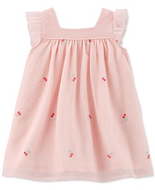 Baby Girls Embroidered Cherry Tulle Dress
