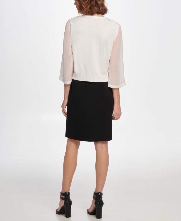 DKNY Georgette Sleeve Cardigan & Reviews - Sweaters - Women - Macy's