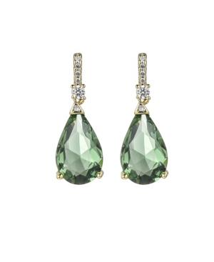 A & M Gold-Tone Mint Tear Drop Earrings