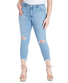 Trendy Plus Size Adored Distressed Skinny Ankle Jeans