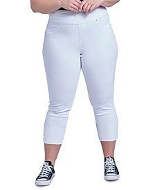 Trendy Plus Size The Tummy Toner Cuffed Jeans