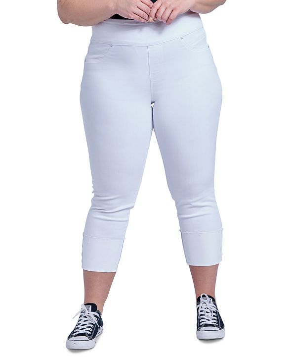 Seven7 Jeans Trendy Plus Size The Tummy Toner Cuffed Jeans