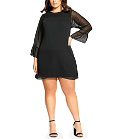 Trendy Plus Size Softly Smocked Dress