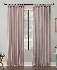 "52"" x 84"" Washed Cotton Twist Tab Curtain"