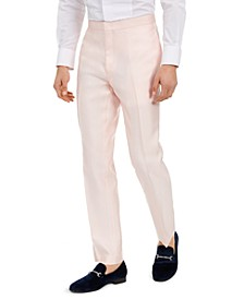 Men's Slim-Fit Stretch Pink Solid Tuxedo Pants, Created for Macy's