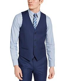 Men's Slim-Fit Stretch Blue Solid Suit Vest, Created for Macy's