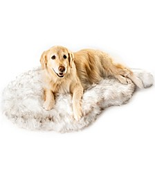 PupRug Faux Fur Orthopedic Dog Bed Curve  Large/Extra Large