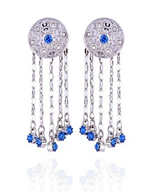 Extra Celestial Button Earrings with Fringe