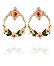 Winter Garden Front Facing Hoop Earrings