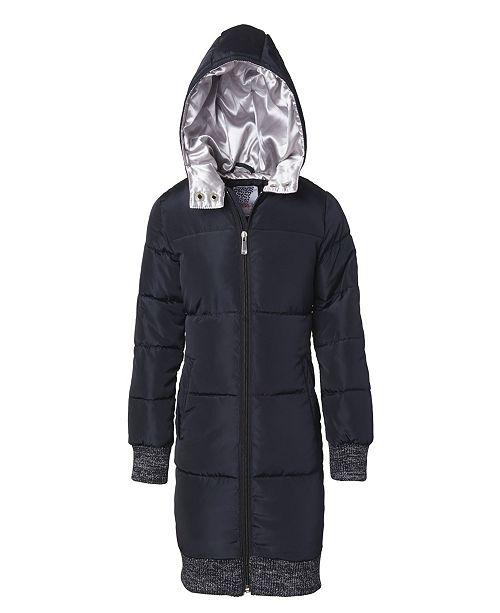 Kensie Girl Little Girl Elongated Bomber Puffer Jacket