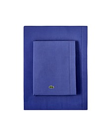 Lacoste Percale Full Solid Sheet Set