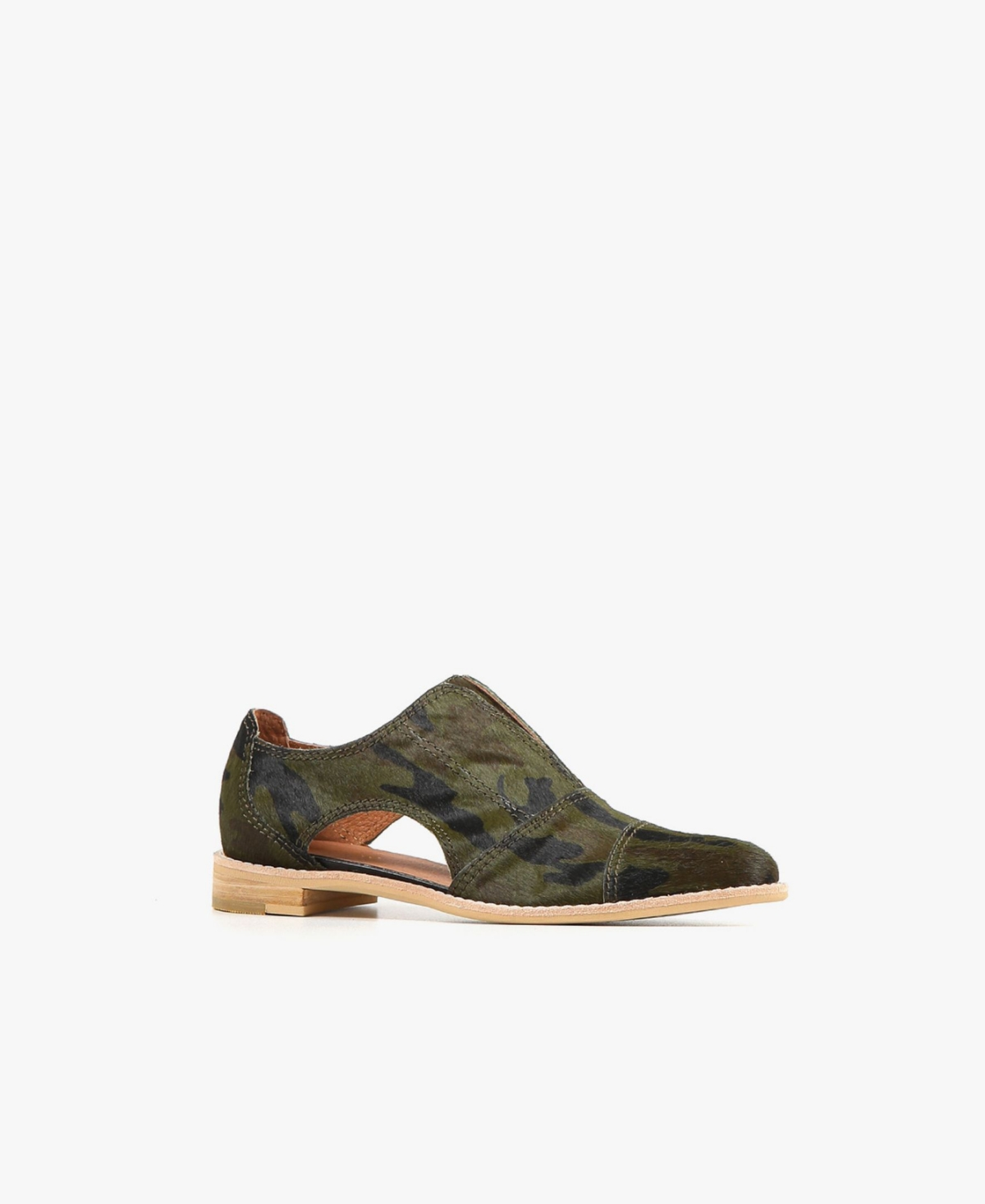 Women's Fur Cutout Cowman Flats Women's Shoes