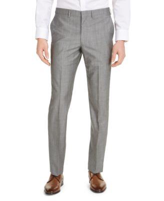 Men's Slim-Fit Stretch Suit Pants