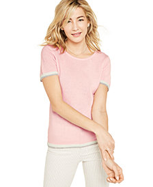 Charter Club Cashmere Tipped Pullover Sweater, Created for Macy's