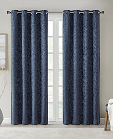 "Everly 50"" x 84"" Branch Jacquard Total Blackout Window Panel"