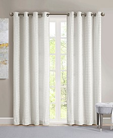 "Arcadia 50"" x 95"" Crinkle Matte Satin Curtain Panel"