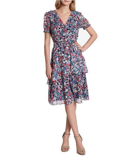 Tahari ASL Floral-Print Wrap Dress