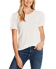Ruffled-Sleeve T-Shirt