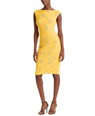 Ruched Boatneck Dress